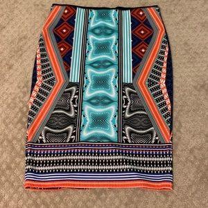 Bisou Bisou stretch knee length skirt